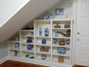 Blue china and baskets